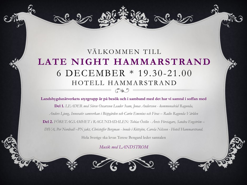Hotell Hammarstrand Late Night